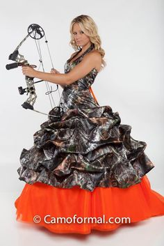 wedding dressses, dream dress, cloth, camo dress, weddings, the dress, redneck, orange camo wedding dresses, future wedding
