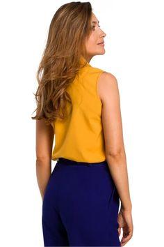 Shirt model 135291 Style – Blushgreece.shop Blouse Models, Sleeveless Blouse, Chambray, Emporio Armani, Blouses For Women, Tankini, Tory Burch, Paisley, Tommy Hilfiger
