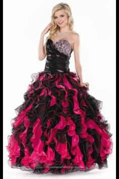 Red and black quince dress