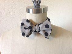 SelfTie Adjustable Black Polka Dot Bow Tie by ReganEdesigns, $22.00