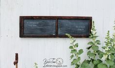 Reclaimed Wooden Chalkboard Created From Antique Window / Cabinet Door - Large…