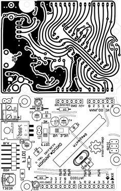 own arduino one side copper , ftdi conection, atmega 328 p , standard shield.
