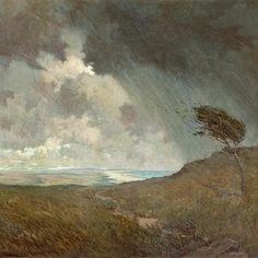 Granville Redmond - Coastal Storm, 1905. Oil on canvas, 42 x 50 in.