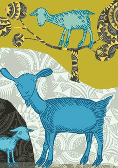 Lush Designs, London – Page 72 Goat Art, Artwork For Home, Animal Paintings, Livestock, Farm Animals, Goats, Print Patterns, Greenwich London, Drawings