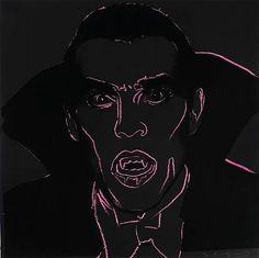 Dracula from Myths (1981) Andy Warhol