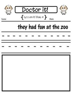 StoryTown Proofreading First Grade Lessons 16-30 free