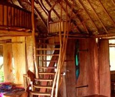 The inside of the bungalow in the middle of the Tahitian rain forest we stayed in at our honeymoon!