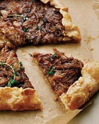 Free-Form Onion Tart Recipe from Food & Wine, try this with your grilled steak instead of a potato