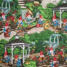 MICHAEL MILLER MUSICAL GNOMES fabric