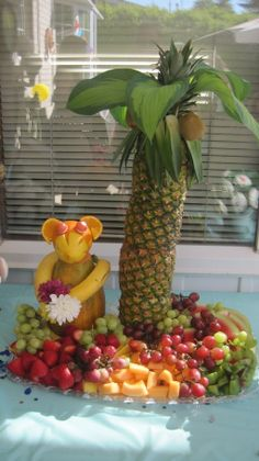 my version of the pineapple tree & monkey