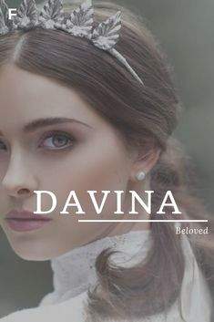 Davina, meaning Beloved, Scottish/Hebrew names, D baby girl names, D baby names,... #beloved #davina #hebrew #meaning #names #scottish