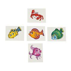 Tropical Fish Tattoos - OrientalTrading.com