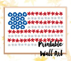 USA Flag Print, 4th of July Instant Download, Printable Wall Art, 8x10 Print.     Land of the Free, Home of the Amazing!An easy addition to your summer picnic decor  by HotWheelsandGlueGuns