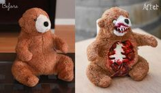 Terror Teddy - DIY Before/After