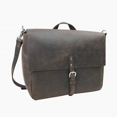 Vintage Full Grain Leather Cowhide Leather Mini Shoulder Waist Bag LS33.DB