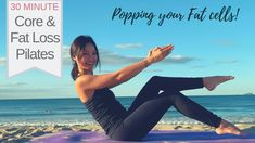 Start your day with this amazing popping Pilates for fat loss and core strengthening. You will get so much more energy and feel happier after 30 minutes. Cardio Pilates, Pilates Video, Pilates For Beginners, Beginner Pilates, Reduce Belly Fat, Lose Belly Fat, Lower Belly, Hiit Program, Lose Weight