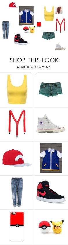 """Ash and Misty Halloween costume"" by fangirl-24 on Polyvore featuring Carmar, Converse, Nintendo, Dsquared2, NIKE and Casetify"