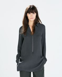 Image 2 of ZIPPED TUNIC WITH SIDE SLITS from Zara          $99.90