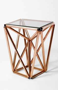 Brooklyn-based Paul Loebach, copper coffee table.