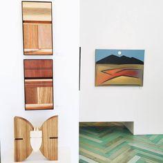 Arlo Namingha's Horizon #10, Horizon #11, Puwanini #3. Painting is Summer Moon by Dan Namingha