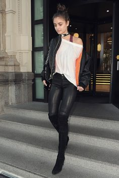 Taylor Hill was seen in Milan