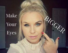 Super Easy Tips to Make Eyes Bigger - Make-up - Makeup Eye Makeup Tips, Beauty Makeup, Hair Makeup, Hair Beauty, Makeup Ideas, Makeup Tricks, Makeup Shop, Fair Skin Makeup, Dress Makeup