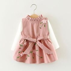 """HOT PRICES FROM ALI - Buy """"Girls dress Kids clothes Baby girl dresses Cute embroidery dress-set Girl Autumn tshirt+sundress Roupas infantis menina"""" from category """"Mother & Kids"""" for only USD. Cute Dresses, Girls Dresses, Flower Girl Dresses, Princess Dresses, Baby Dresses, Peasant Dresses, Princess Girl, Dress Girl, Flower Girls"""