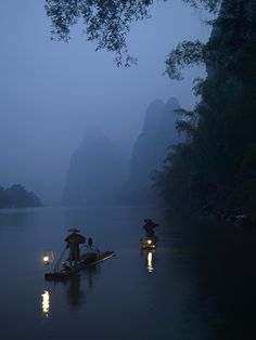 Lijiang River, China  #river #china #fishermen