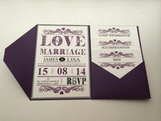 Cherrysealed have created these wonderful #wedding #invitations with all the information guests could possibly need.