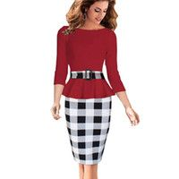 Cheap Women Business Suits Blazer with Grid Skirts Female Formal Office Suits Work Ladies Elegant Career Pencil Dress for Women
