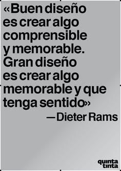 Dieter Rams nos da la clave para marcar nuestras propias metas en el mundo del diseño.