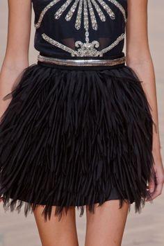 Sass & Bide Spring 2013 Feather Skirt #ScoreSense