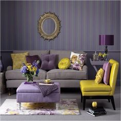 Purple   mustard   grey