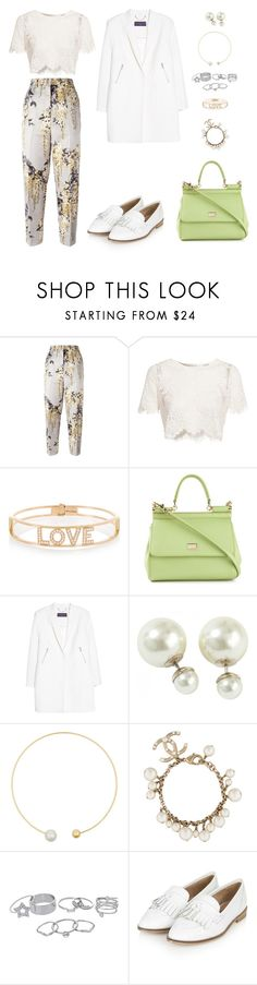"""""""690"""" by julialeskiv ❤ liked on Polyvore featuring Rochas, Glamorous, Spallanzani, Dolce&Gabbana, Violeta by Mango, Sophie Bille Brahe, Chanel, Lipsy and Topshop"""