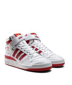adidas Originals Forum Mid 'Refined': White/Red