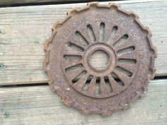 Rusty Gear Steampunk Primitive Urban Industrial Art Farm Machine Parts | eBay