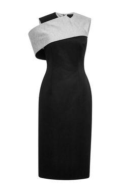 Tailored Jersey Fold Pencil Dress by Josh Goot - Moda Operandi