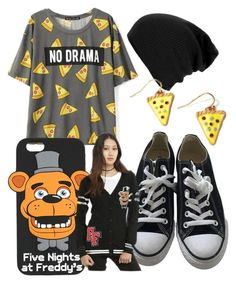 """Pizzaaaaaa"" by haileybelle410 on Polyvore featuring Converse and Freddy"