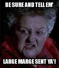 Pee Wee's Big Adventure Large Marge meme
