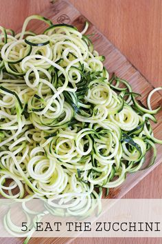 How to Spiralize Zucchini - For The Love of Food Blog