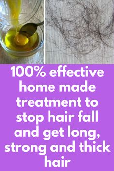 100% effective home made treatment to stop hair fall and get long, strong and thick hair Today I will share powerful remedy to get super strong hair and stop hair fall in just 1 week. This is 100% effective home remedy and it has guaranteed results. This mask helps to stop severe hair fall in less than a week and makes the roots stronger, hair thicker and shinier than before. Ingredients you will …