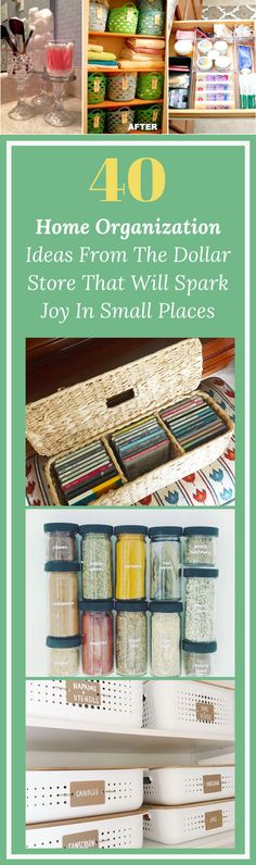 1 Trip To The Dollar Store Later & Mom Shows 40 Ways To Transform Small Space Into An Organized, Clean One These genius organization ideas will help you organize your home on a budget. All you need is quick trip to the dollar store to organize your home. Dollar Store Hacks, Dollar Stores, Mom Show, Arts And Crafts For Teens, Organizing Your Home, Organizing Tips, Do It Yourself Home, Life Organization, Getting Organized