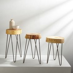 Katie Gong Design Stump Side Table