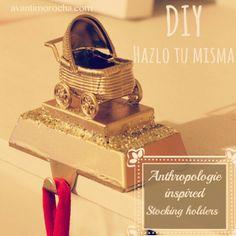 Stocking holder / Anthropologie inspired #Christmas #Christmasdecorations #Stocking #Christmasgift #mom #baby