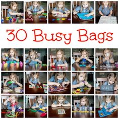 30 Busy Bags with pictures and links all in one place!