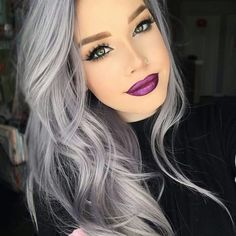 silver hair Preferred Hair Gray Long Straight Wig of Human Hair with Baby Hair Brazilian Ombre Lace Front Wig for Women Grey Hair Wig, Grey Hair Care, Silver Blonde Hair, Lace Hair, Gray Hair Women, Purple Grey Hair, Dark Grey Hair, Mens Hair Colour, Hair Color