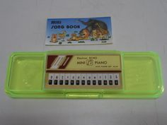 Vintage Mini Piano Electron Echo Pencil Case - bring these back!