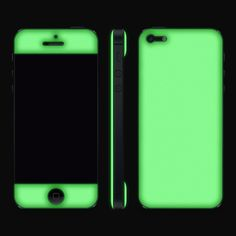 This is what the glow in the dark iPhone case looks like in the dark. That won't be hard to spot at the bottom of your purse, will it?