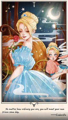 Disney Artwork, Disney Fan Art, Disney Girls, Disney Drawings, Disney Love, Cinderella Aesthetic, Disney Aesthetic, Disney And Dreamworks, Disney Pixar