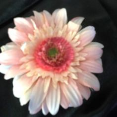 Pink Gerber Flower on Velvet Rose's Pin Up Dressing Room - The vintage shop tailored to you #PinUpHairFlower #StockingStuffer Free Postage within Australia